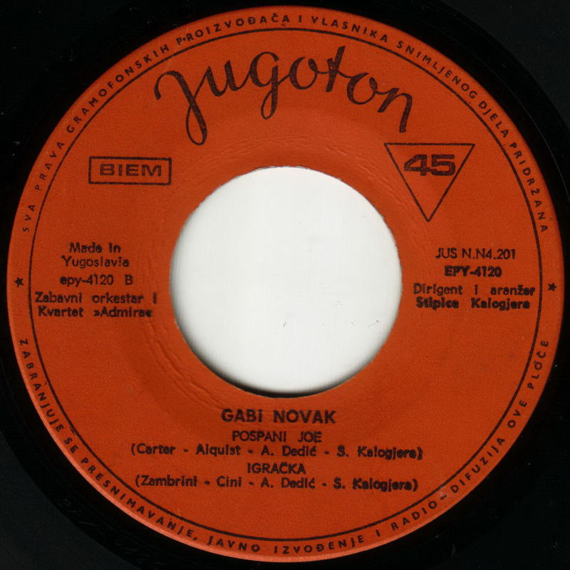 Gabi Novak 1968 Dragi vinil 2