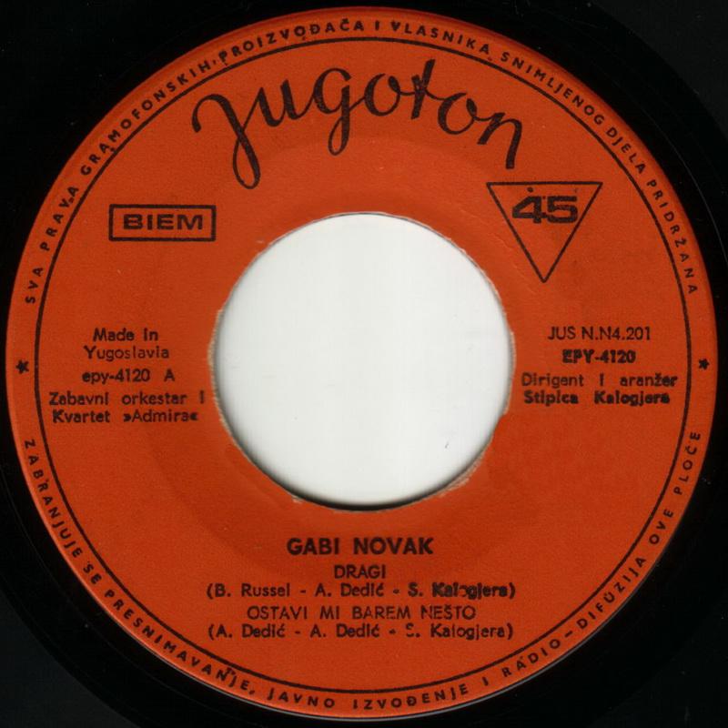 Gabi Novak 1968 Dragi vinil 1