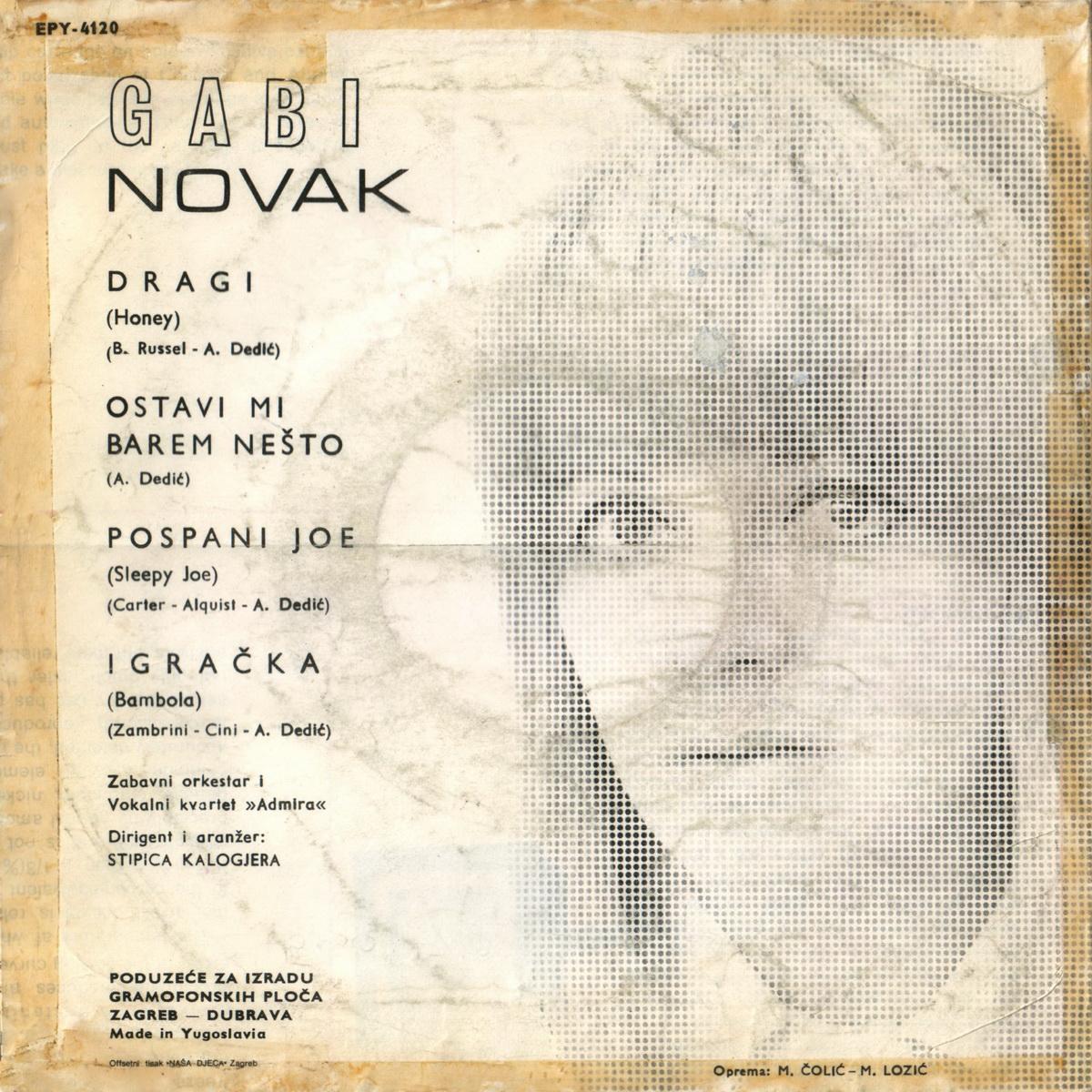 Gabi Novak 1968 Dragi B